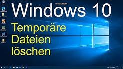 Windows 10 - Temporäre Dateien löschen