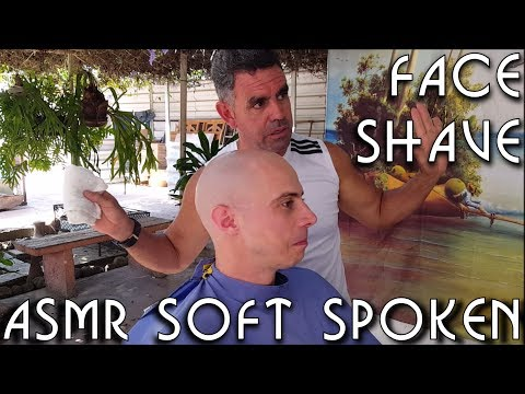 💈 Cuban Street Barber - Face Shave ~ ASMR Soft Spoken ~ Honeymoon