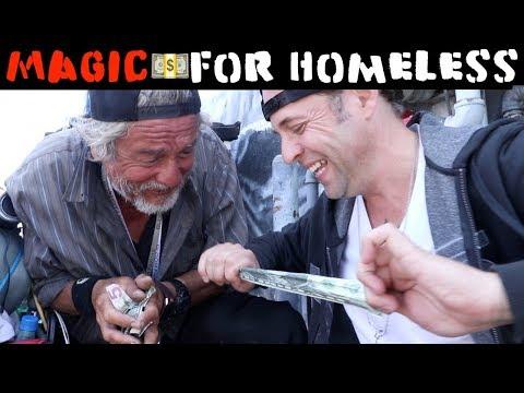 Money magic for Homeless💸 -Julien Magic