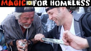 Money magic for Homeless💸 -Julien Magic