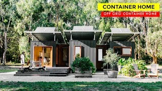 Tiny Living: 3 X 20ft Shipping Container Off-grid Home