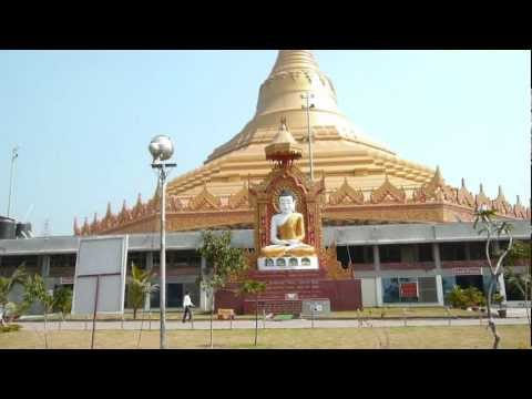 travel india@world's largest dome without pillars/gorai mumbai tour/buddhist global vipassana pagoda