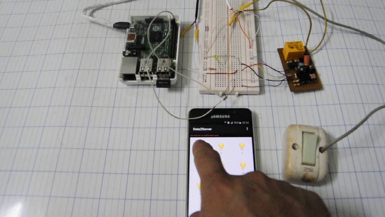 remote light switch by phone - YouTube