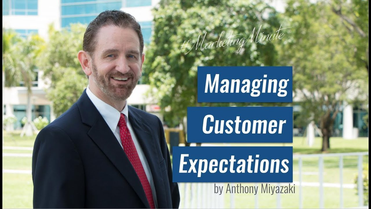 managing customer expectation Managing expectations is about saying what the customer will experience after they buy from you, or what people will receive when they join your newsletter, or pretty much any variable where you present something and invite people to participate.