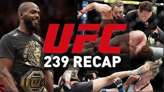 Jon Jones STILL the Champ | Nunes lands MASSIVE kick | Fastest KO in UFC History | UFC 239 Recap