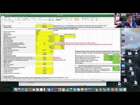 Using the Ginzu Spreadsheet in Valuation