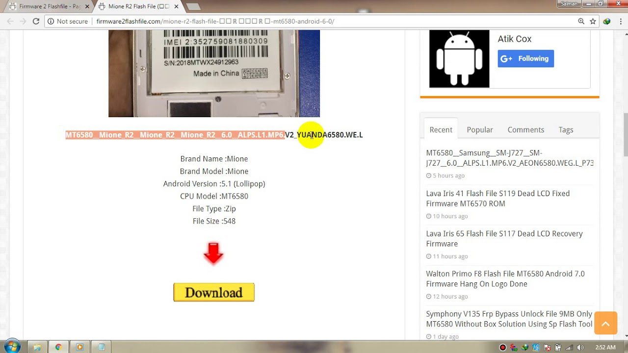 Mione R2 Firmware Download