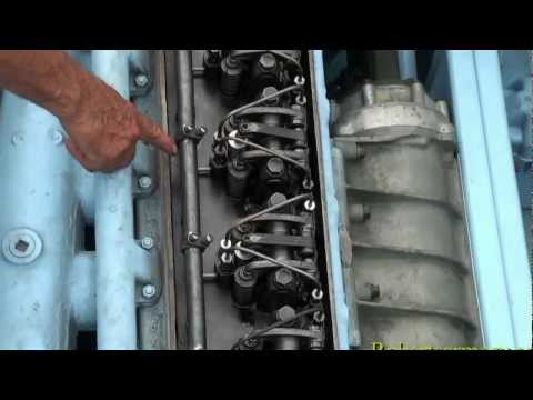 1945 Landing Craft Engine Start UP Detroit 6 71