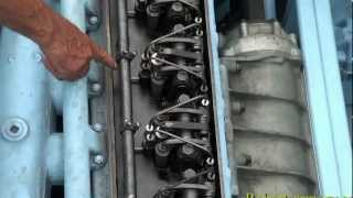 1945 Landing Craft Engine Start UP Detroit 6 71