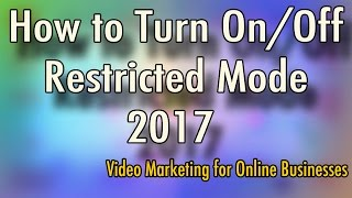 How to Turn On and Turn Off Restricted Mode - YouTube Material Design Layout 2017