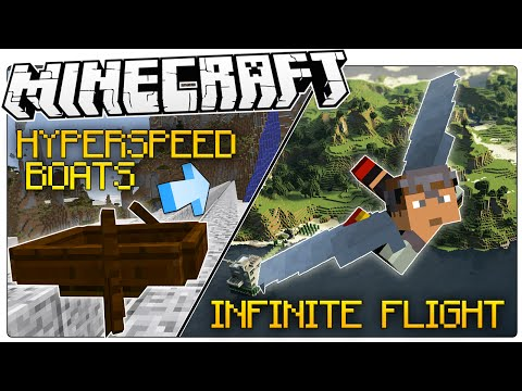 Two Game Breaking Glitches In Minecraft 1.9 | INFINITE FLIGHT | HYPER SPEED BOATS