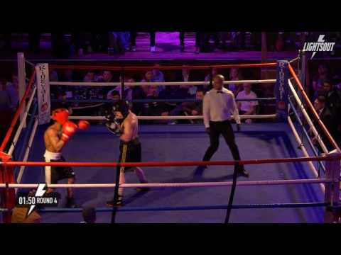 Brian Ledesma vs Marcos De Oliveria (Camden Centre) Whitecollar 5×2mins Welterweight bout 3/6/2016