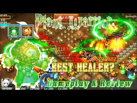 Plant Warrior Lv9 Sacred Light BEST HEALER? Gameplay & Review - Castle Clash