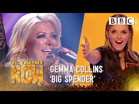 Reality star Gemma Collins STUNS Geri Horner with amazing 'Big Spender' - All Together Now
