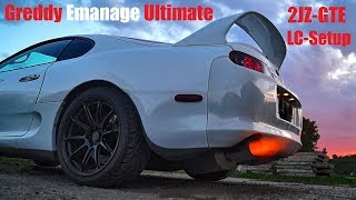 Toyota Supra Antilag Greddy Emanage Settings 2017 HD