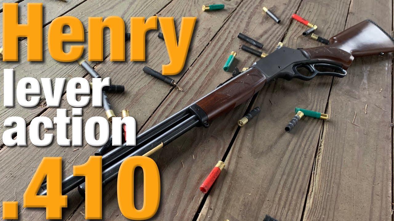 Henry's lever action  410 shotgun is sweet!