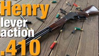 Henry's lever action .410 shotgun is sweet!