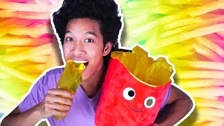 DIY GIANT JELLO GUMMY FRENCH FRIES!!!