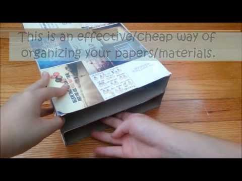 DIY : Paper Organizer/Shelf