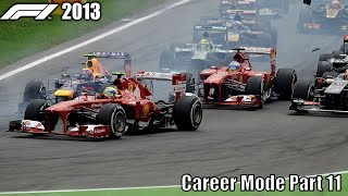 F1 2013 Career Mode Part 11 - Italy (My Best Overtake Of The Season)