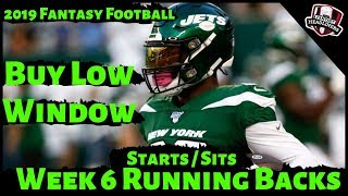 2019 Fantasy Football Advice - Week 6 Running Backs - Start or Sit? Every Match Up
