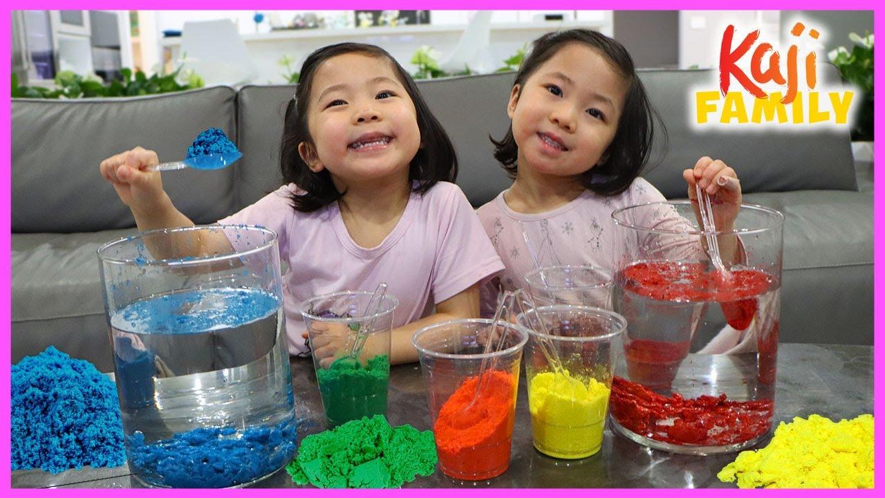 How to Make DIY Magic Sand Fun Kid Indoor Activity Emma and Kate!