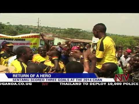 Kasese rolls out red carpet for Cranes hotshot Sentamu