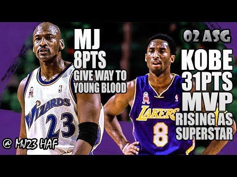 Kobe Bryant & Michael Jordan Highlights (2002 All-Star Game) - MJ Sits Back, Kobe All-Star MVP!