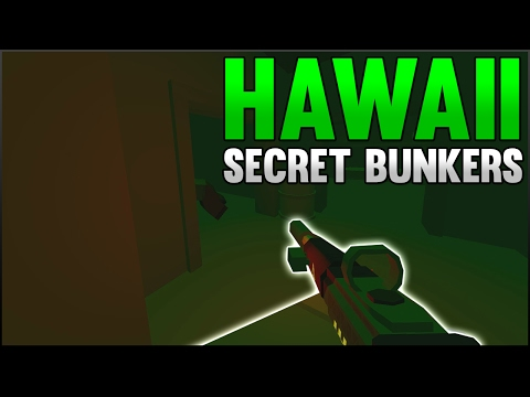TWO SECRET BUNKERS! - Exploring Hawaii (Unturned 3.18.0.0)