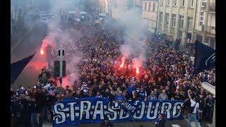 RC Strasbourg - Marseille Cortege