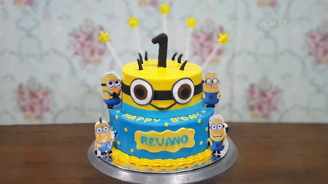 Wow Cool Minion Tier Cake Birthday Cake Cake Tart Simple