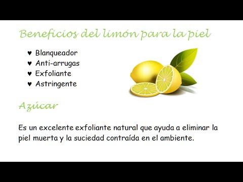 Limon Y Azucar Para Limpiar La Cara