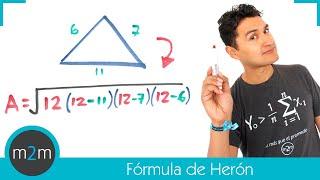 Perímetro y área de un triángulo│fórmula de Herón