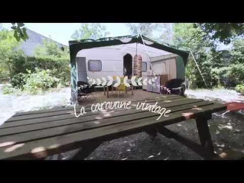 Caravanes vintage en bord de dr me au camping les chamberts youtube - Location caravane vintage ...