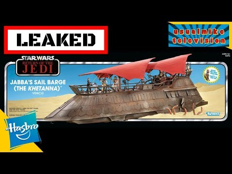 STAR WARS LEAKED TOY NEWS OF THE BARGE KHETANNA THE ARCHIVE COLLECTION AND MICRO FORCE WOW