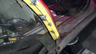 Mazda 323 f bg - ремонт задней арки