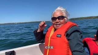 成风破浪的奶奶,钓鱼飙船学英语两不误