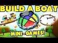 Build a boat MINIGAME THEMEPARK! [10 games!]
