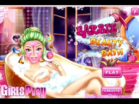 barbie bathroom games bath makeover 10078