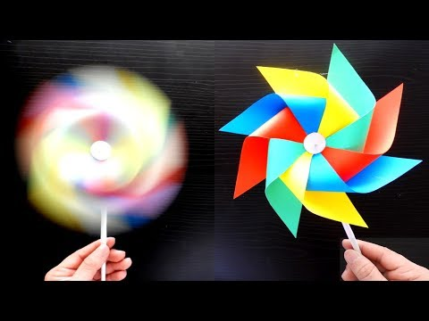 How to make a paper Windmill. Origami DIY Easy and fast crafts
