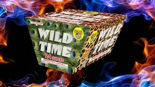World Class Fireworks - Wild Time 24 Shot 1.4G Fan Cake
