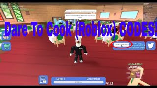 Dare to Cook (Roblox)-códigos