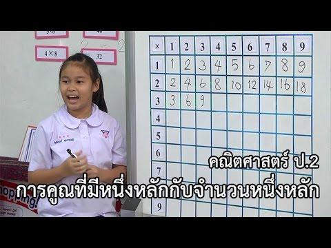 คณิตศาสตร์ ป.2 การคูณที่มีหนึ่งหลักกับจำนวนหนึ่งหลัก ครูสำราญ จุลมุสิก