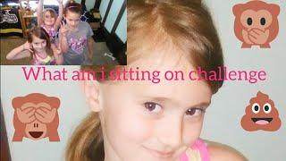 WHAT AM I SITTING ON SCHOOL GIRL CHALLENGE