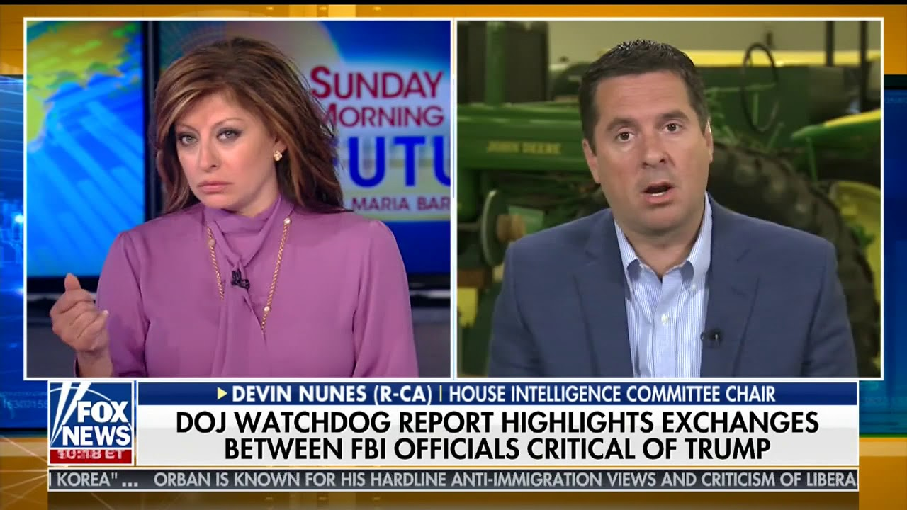 DEVIN NUNES FULL ONE-ON-ONE INTERVIEW WITH MARIA BARTIROMO (6/17/2018)