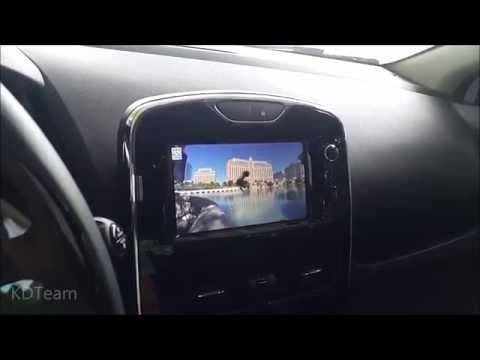 Renault Clio iv 4 with mediaskin Video player Medianav