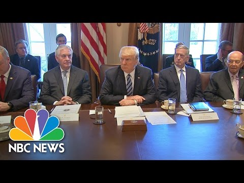 President Trump Holds First Cabinet Meeting, Promises 'To Do a Fantastic Job' | NBC News