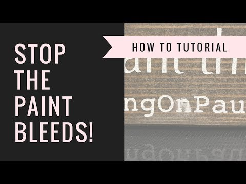 Stenciling Methods How to Avoid paint bleeds