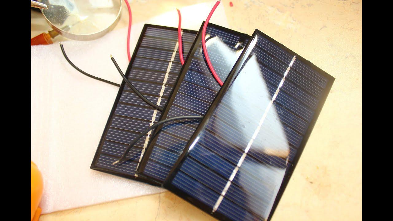 Солнечные мини панели 6В 1Вт  с Aliexpress