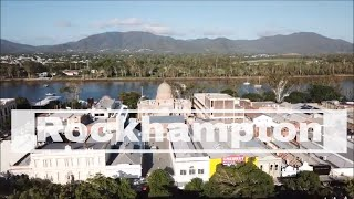 Drone Rockhampton and Fitzroy River, Queensland, Australia